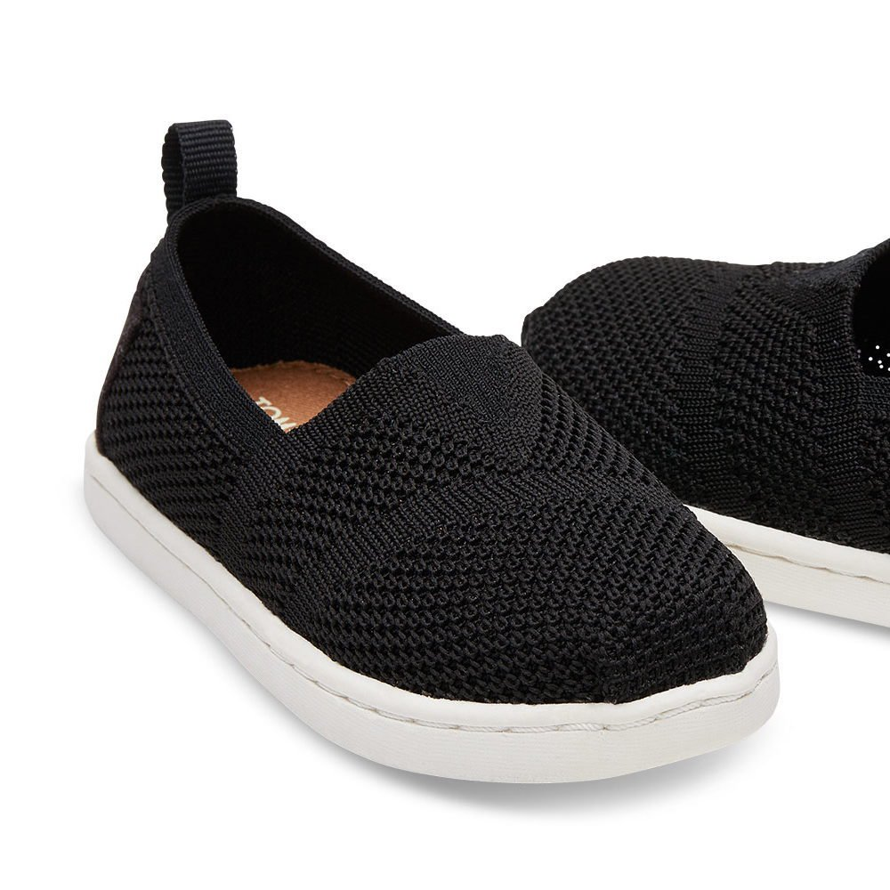 【春夏物セール30%OFF】TINY - KNIT ALPARGATA ESPADRILLE Black Mesh img2