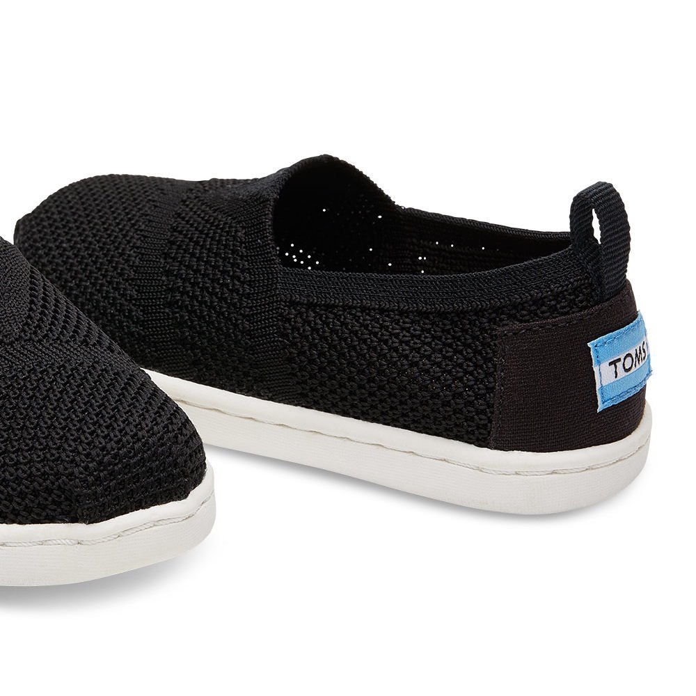 【春夏物セール30%OFF】TINY - KNIT ALPARGATA ESPADRILLE Black Mesh img3