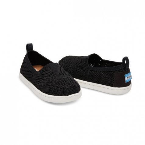 【春夏物セール30%OFF】TINY - KNIT ALPARGATA ESPADRILLE Black Mesh
