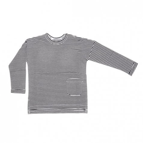 long sleeve Black / White stripes