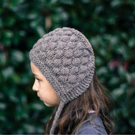 Bumpy Bonnet Charcoal grey