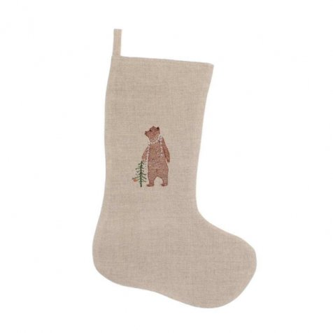 STOCKINGS SMALL Bear with Tinsel