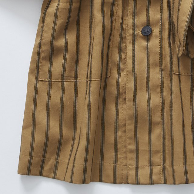 【MORE SALE 40%OFF】stripe gown coat camel img3