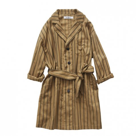 【SALE 30%OFF】stripe gown coat camel