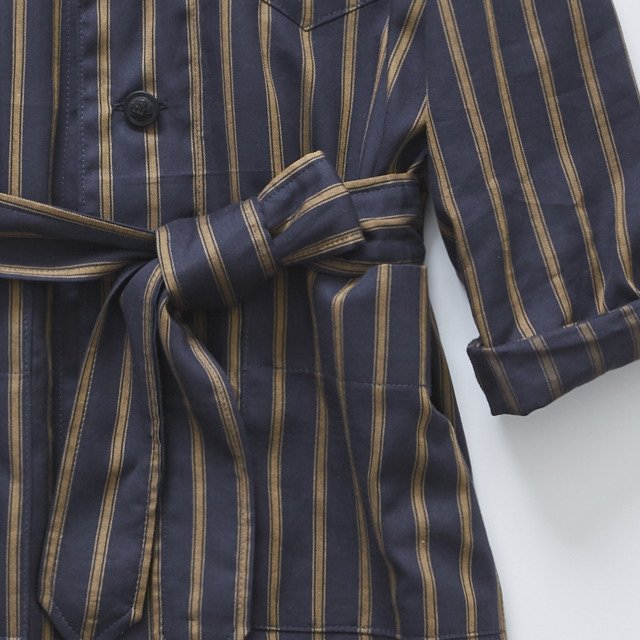 【MORE SALE 40%OFF】stripe gown coat charcoal img2