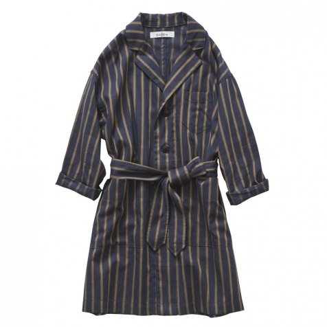 【MORE SALE 40%OFF】stripe gown coat charcoal