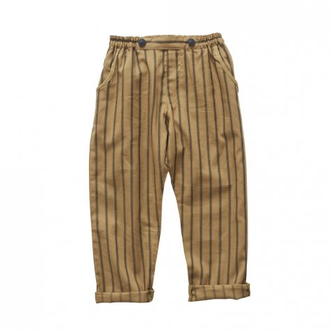 stripe pants camel
