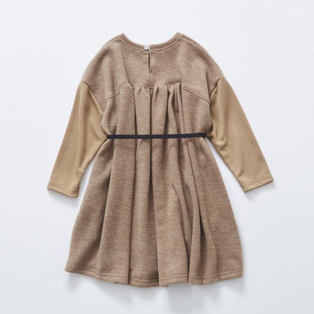 【MORE SALE 40%OFF】melange OP camel img3