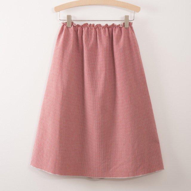 【50%OFF】2017AW No.217078 Long Flared Skirt Vichy img3