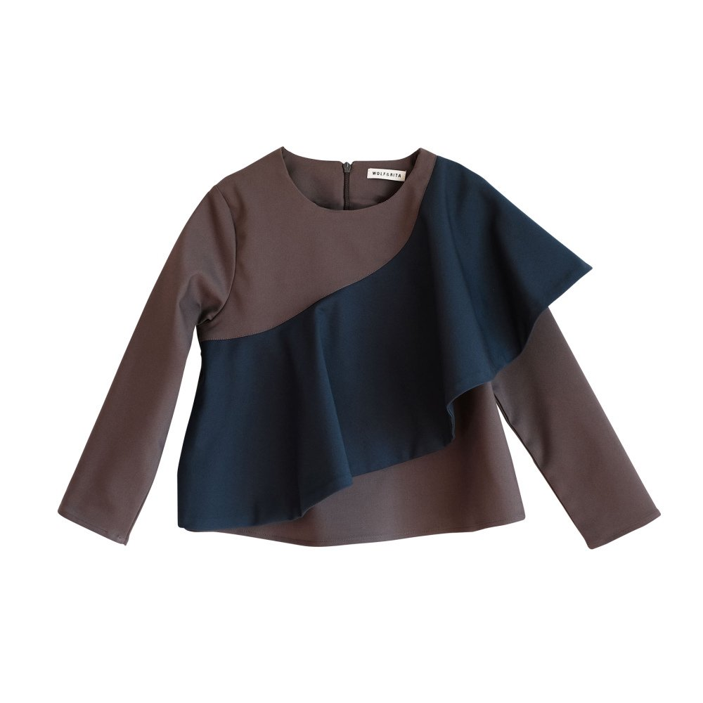 【MORE SALE 40%OFF】RITA Blouse GREY / BLUE img