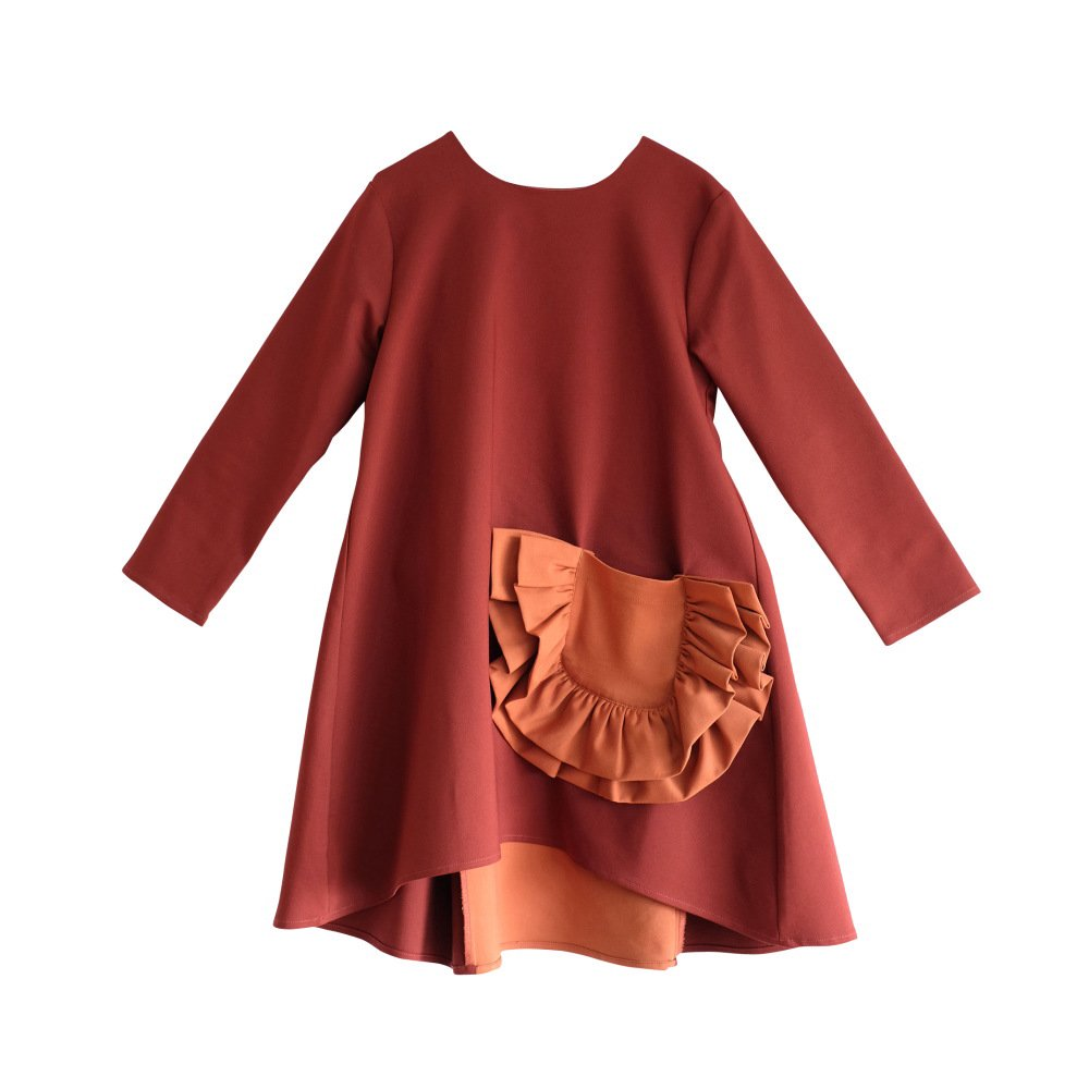 CLAUDIA Dress BORDEAUX /ORANGE img