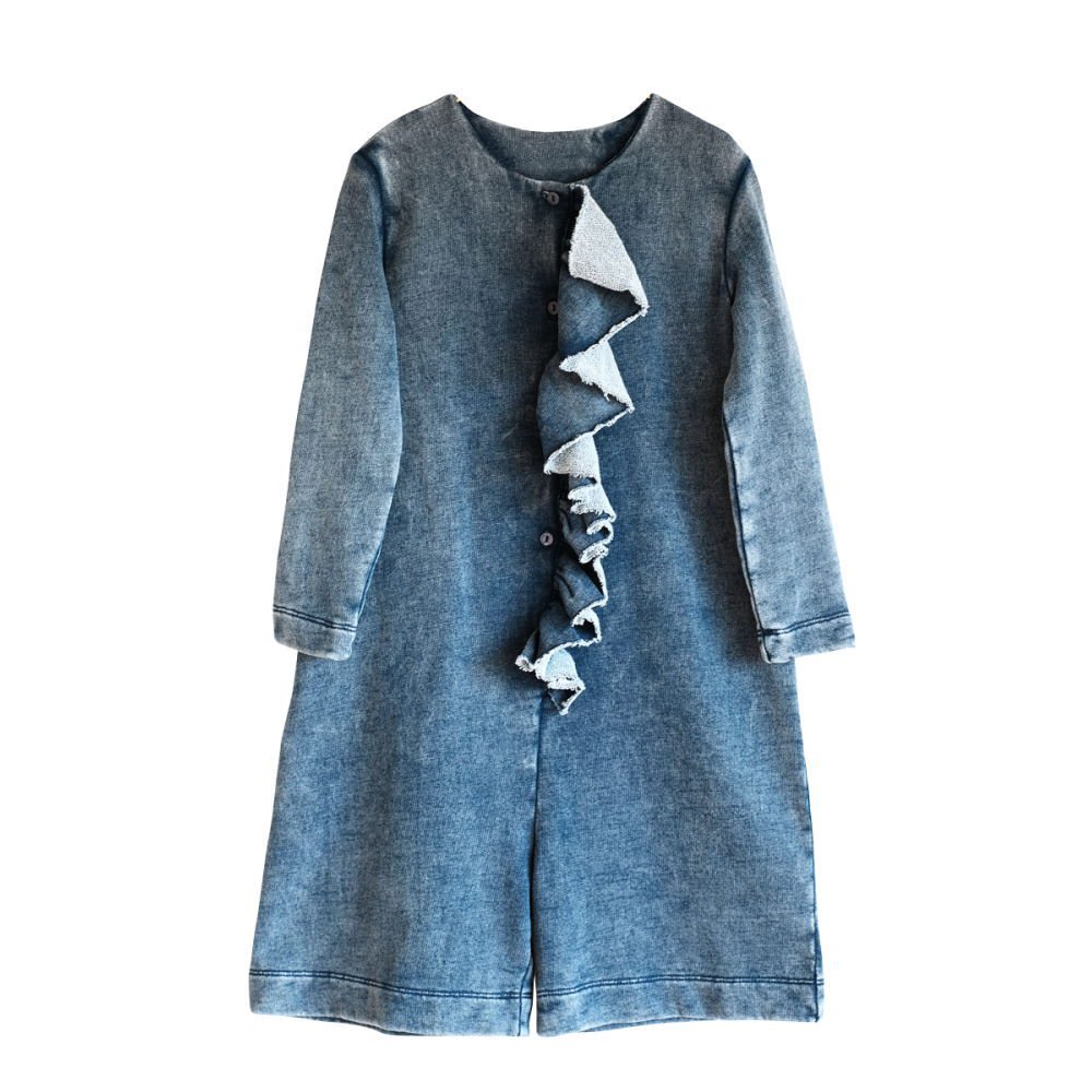【SALE 30%OFF】LIDIA Jumpsuit DENIM FLEECE img