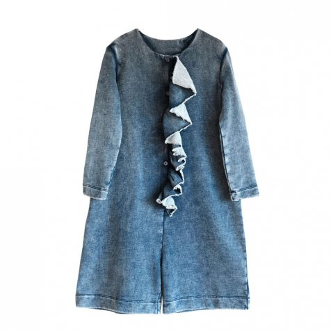 【WINTER SALE 40%OFF】LIDIA Jumpsuit DENIM FLEECE