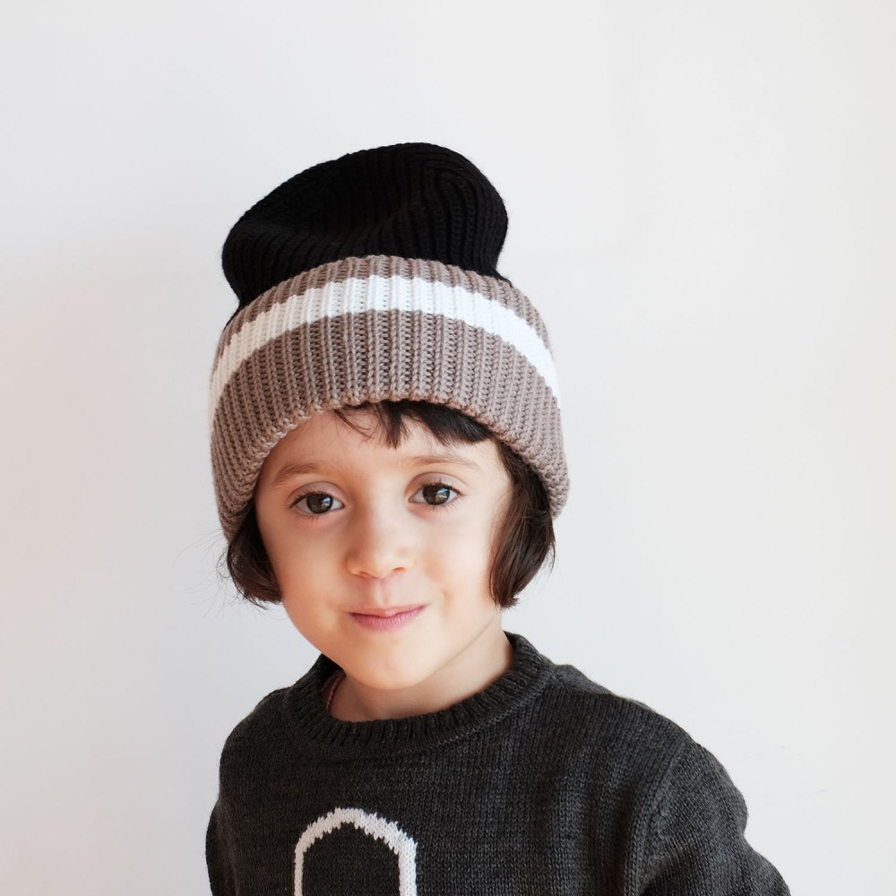 【SALE 30%OFF】MARIO Beanie BLACK GREY img1