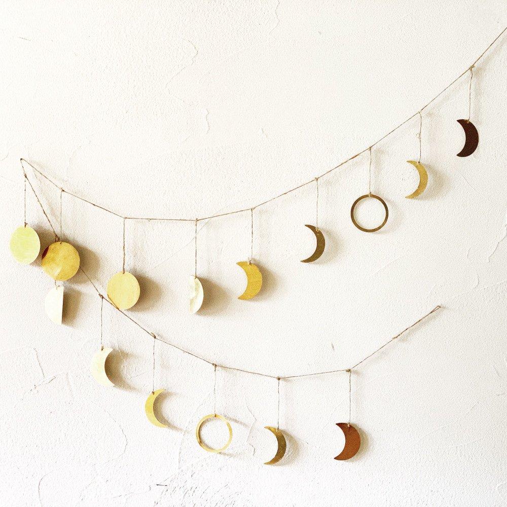 Moon Garland 月の満ち欠けガーランド Brass img