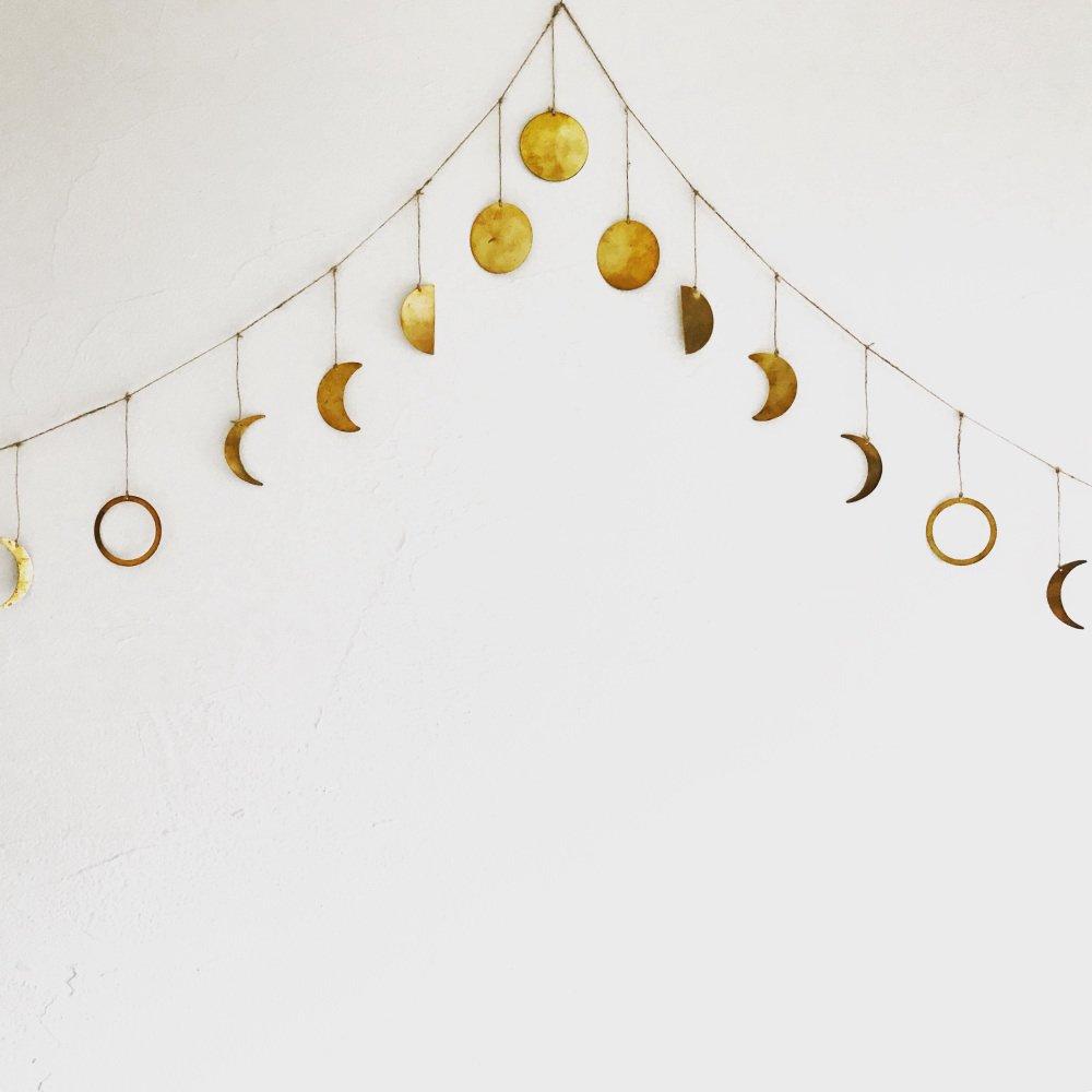 Moon Garland 月の満ち欠けガーランド Brass img1