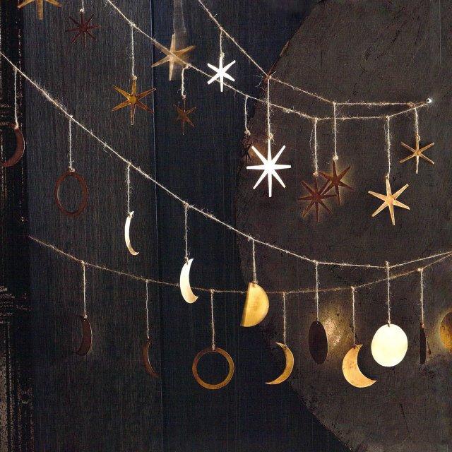 Moon Garland 月の満ち欠けガーランド Brass img4