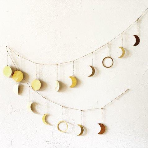 Moon Garland 月の満ち欠けガーランド Brass