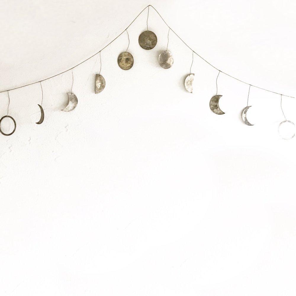 Moon Garland 月の満ち欠けガーランド Silver img