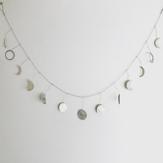 Moon Garland 月の満ち欠けガーランド Silver img1