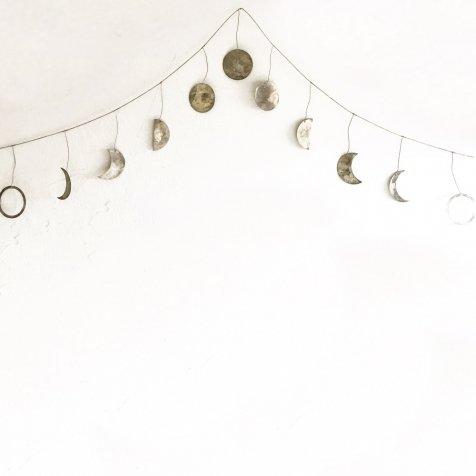 Moon Garland 月の満ち欠けガーランド Silver