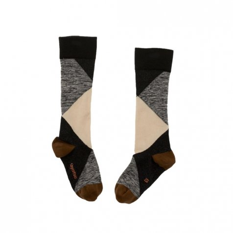 No.277 geometric high socks