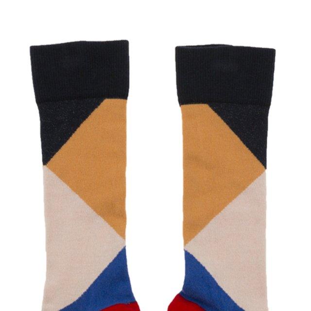 【MORE SALE 40%OFF】No.278 geometric high socks img1