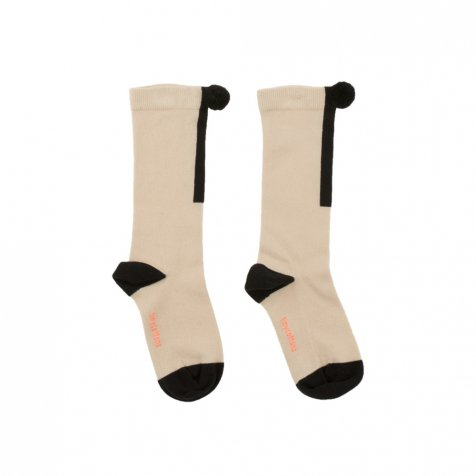 No.280 pom pom high socks