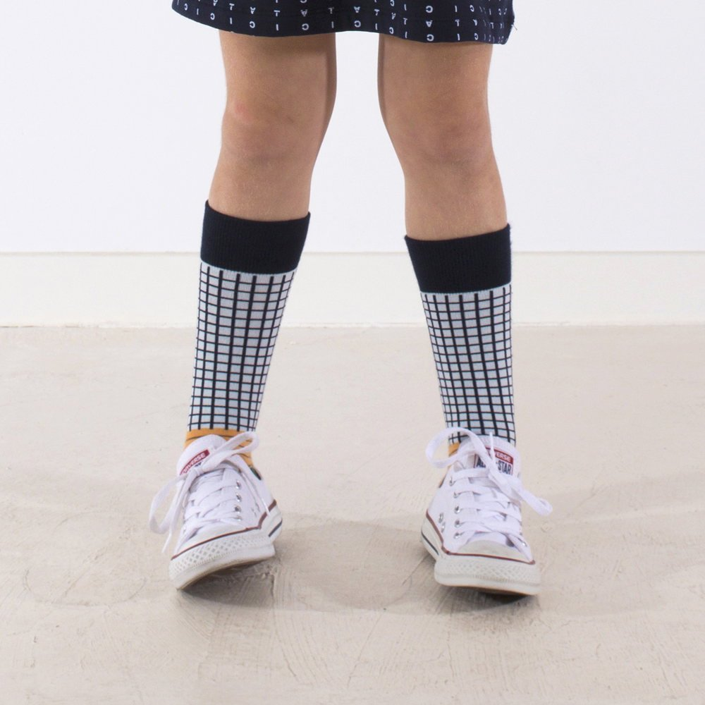 【MORE SALE 40%OFF】No.287 grid & lines high socks img4