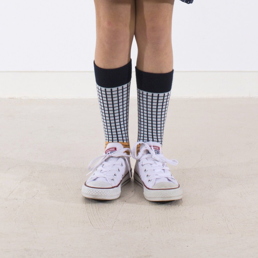 【MORE SALE 40%OFF】No.287 grid & lines high socks img5