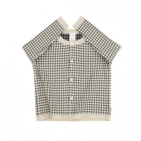 No.186 grid cardigan