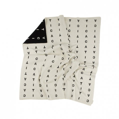 【入荷前ご予約販売-2nd】No.248 alphabet soup knit blanket