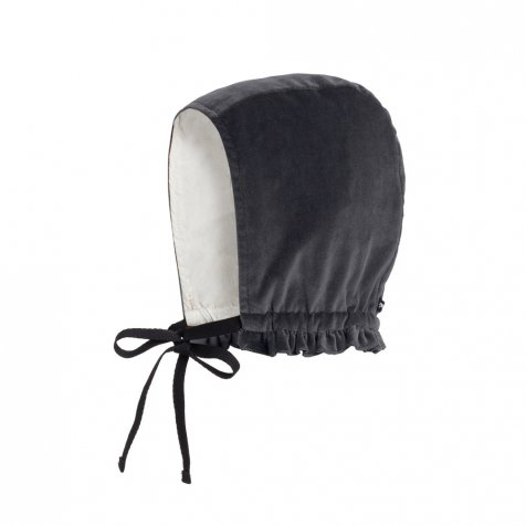 【SALE 30%OFF】Baby Rose's Velvet Bonnet SOFT GRAY