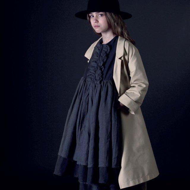 【50%OFF】Nicole's Ruffled Dress SLATE img