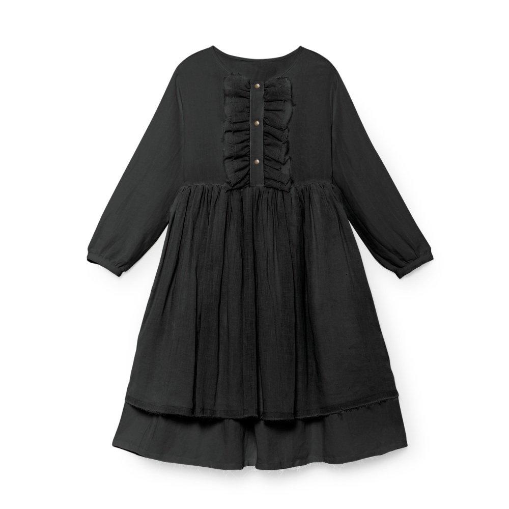 【50%OFF】Nicole's Ruffled Dress SLATE img1