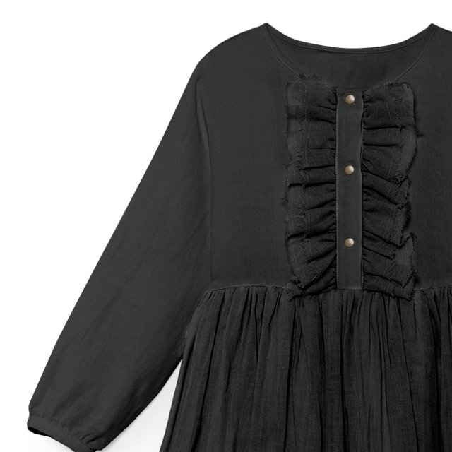 【50%OFF】Nicole's Ruffled Dress SLATE img2
