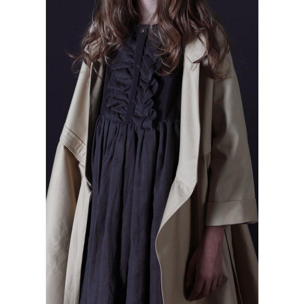 【50%OFF】Nicole's Ruffled Dress SLATE img4