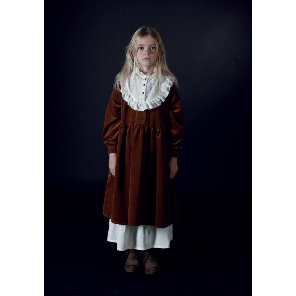 【WINTER SALE 50%OFF】Rose's Velvet Dress COPPER img1