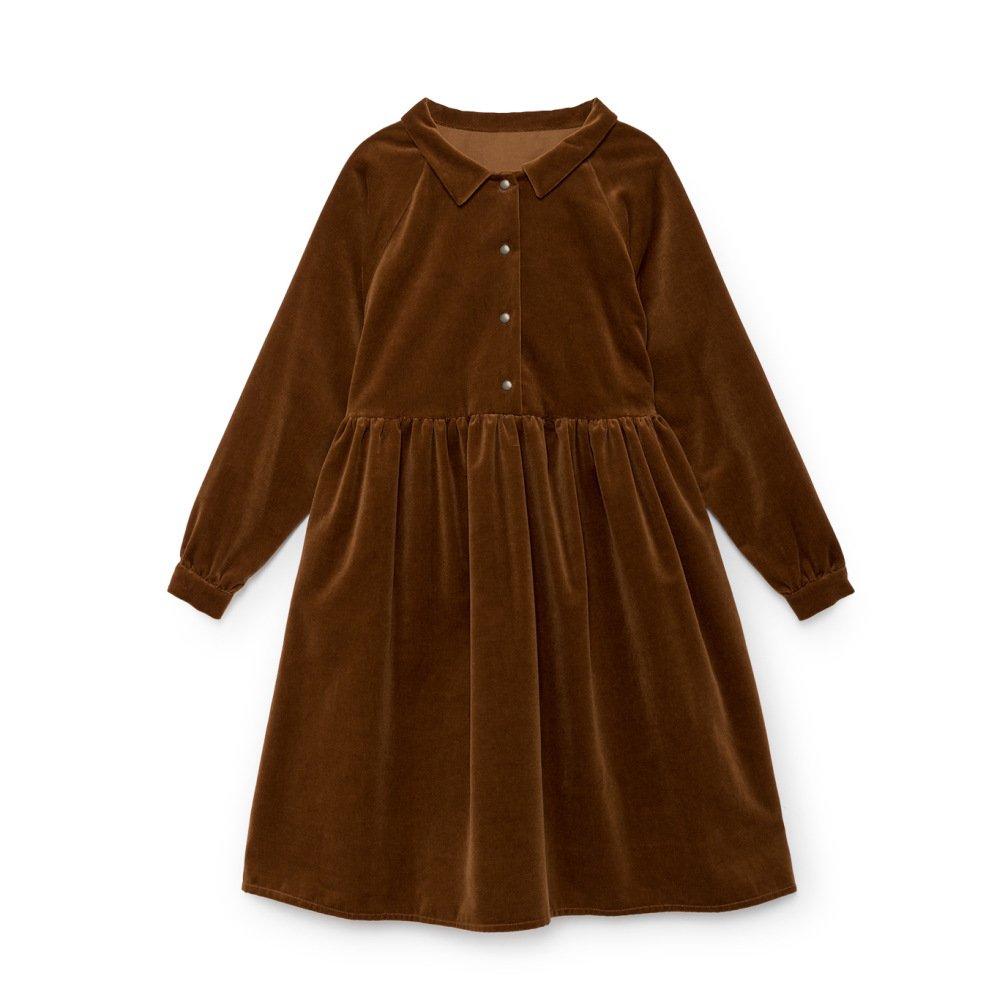 【WINTER SALE 50%OFF】Rose's Velvet Dress COPPER img3