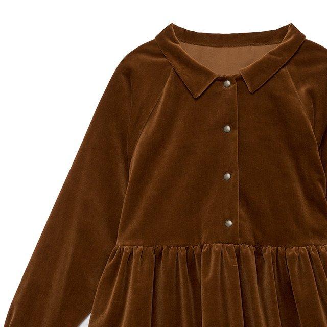 【WINTER SALE 50%OFF】Rose's Velvet Dress COPPER img4