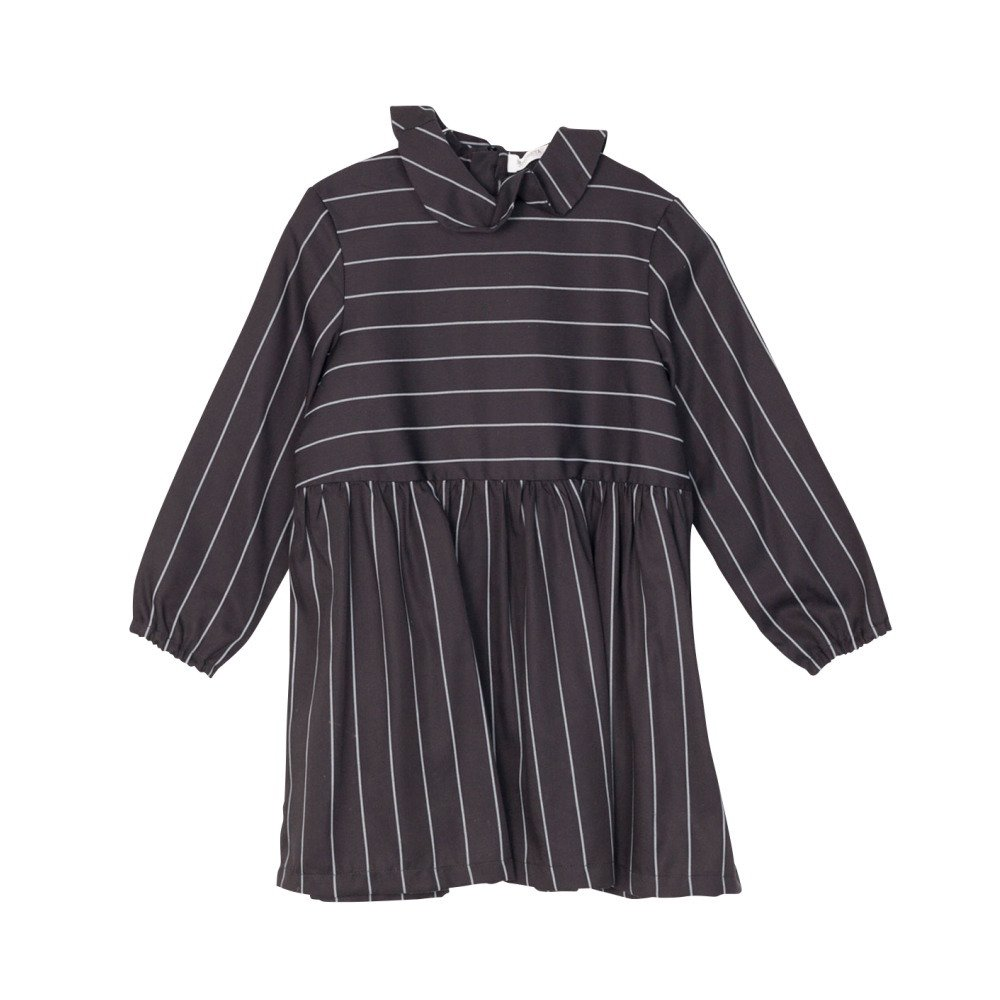 RITA DRESS Black with grey lines img