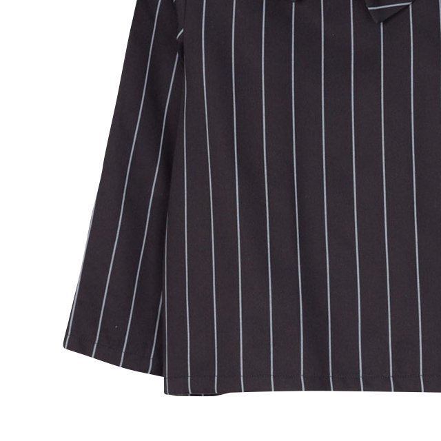 【SALE 40%OFF】ELMA BLOUSE Black with grey lines img2