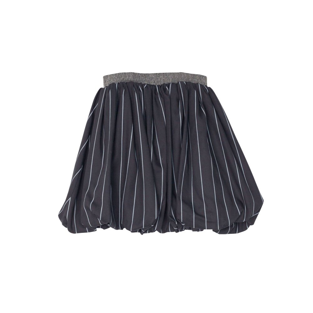 【MORE SALE 50%OFF】COLETTE SKIRT Black with grey lines img