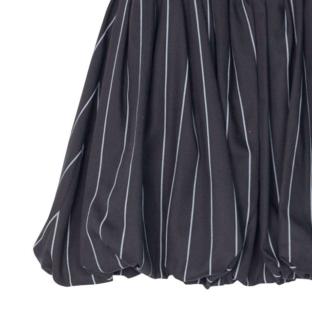 【MORE SALE 50%OFF】COLETTE SKIRT Black with grey lines img1