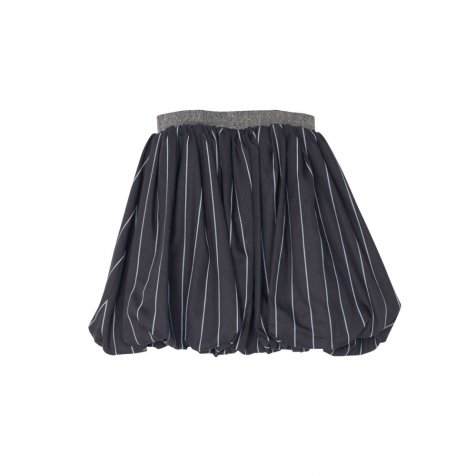 【WINTER SALE 60%OFF】COLETTE SKIRT Black with grey lines