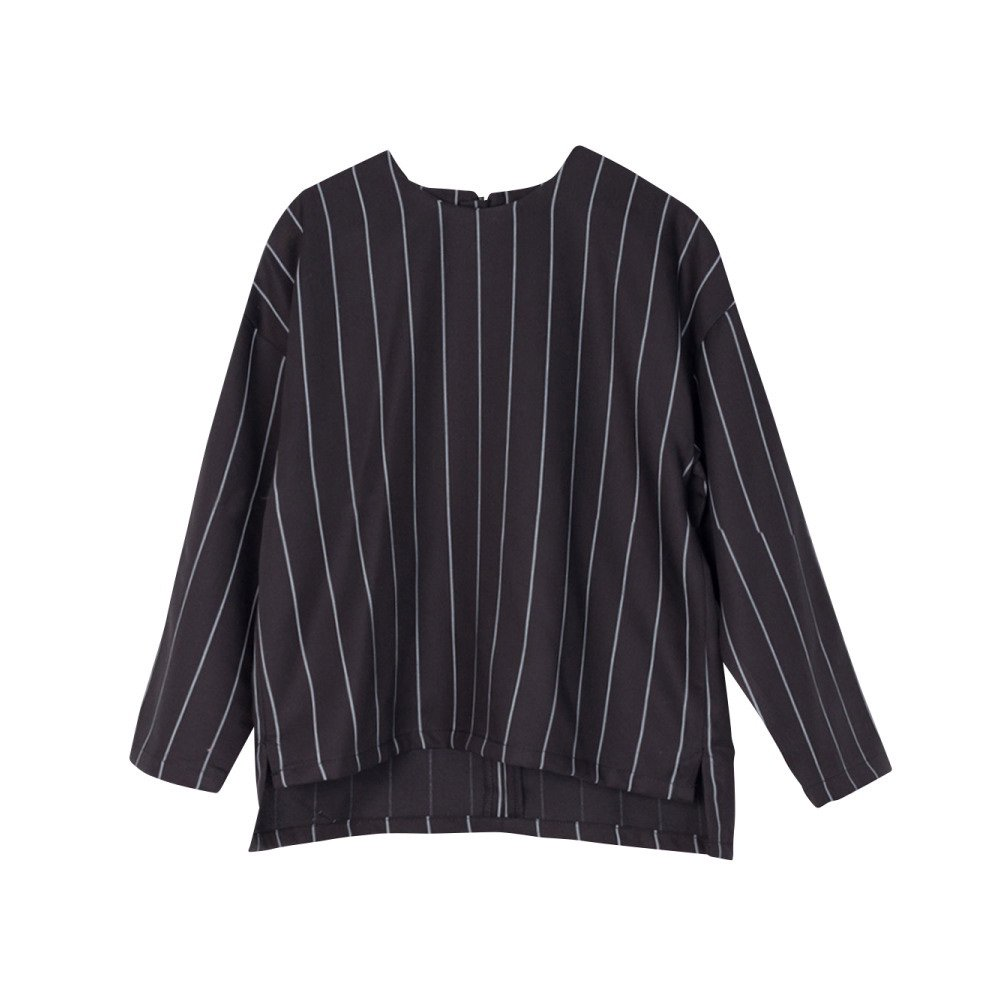 【SALE 40%OFF】EVAN SHIRT Black with grey lines img