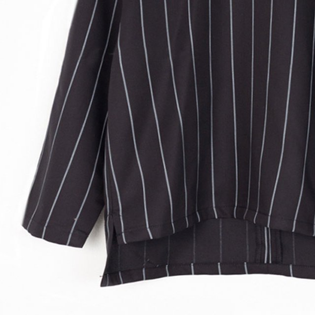 【SALE 40%OFF】EVAN SHIRT Black with grey lines img2