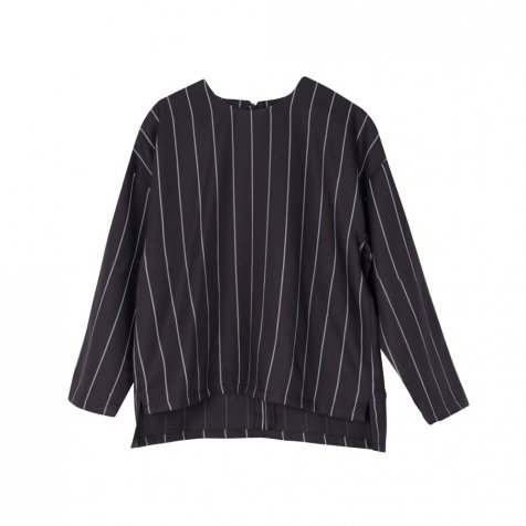 【WINTER SALE 60%OFF】EVAN SHIRT Black with grey lines