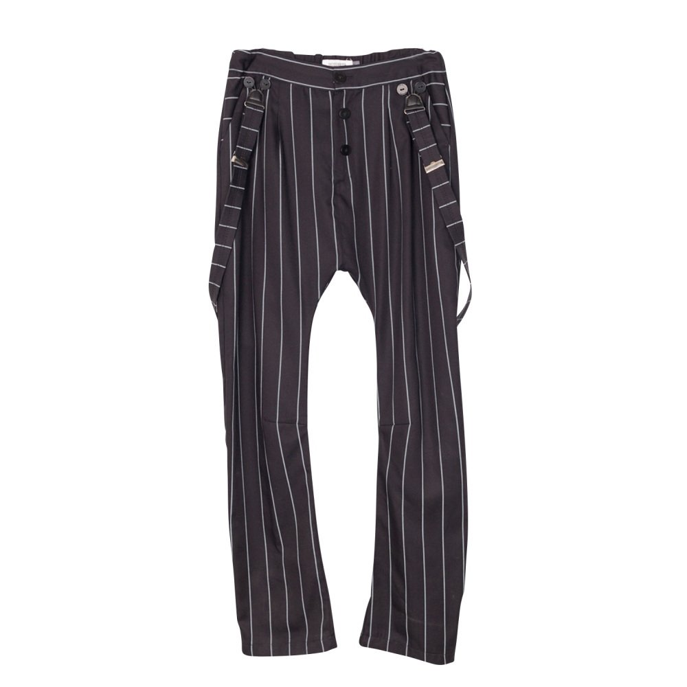 【SALE 40%OFF】PARIS BAGGY PANT Black with grey lines img