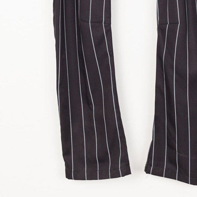 【SALE 40%OFF】PARIS BAGGY PANT Black with grey lines img2
